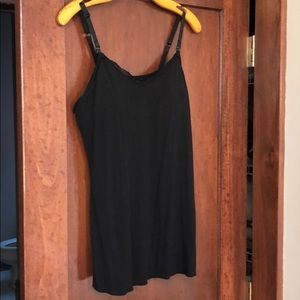 Jessica Simpson large black nursing tank top